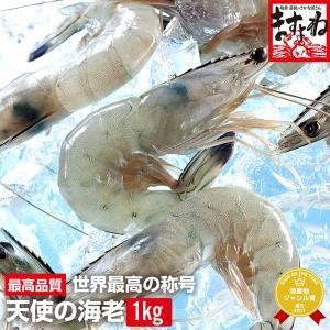 【最も美しく、かつてないほど美味しい、唯一のエビ】天使の海老1kg/21〜30匹入 [生/えび/刺し身//贈答/慶事/冷凍便/送料無料]|masuyone