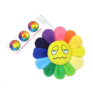 村上隆 カイカイキキ お花 Flower Emoji Keychain B お花ぬいぐるみ フラワー レインボー 絵文字 キーチェーン 裏表可愛らしい2種類の表情 masyou-store
