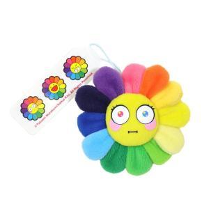 村上隆 カイカイキキ お花 Flower Emoji Keychain D お花ぬいぐるみ フラワー レインボー 絵文字 キーチェーン 裏表可愛らしい2種類の表情 masyou-store