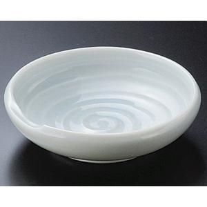 陶雅  刺身千代口箸置付 深口2.7皿青磁|matakatsu