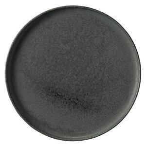 カネスズ 和 WA-ware (黒滴 こくてき)7.5丸浅口切立皿|matakatsu