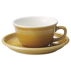 KOYO ストリームラインハニーベージュ片手スープカップ&ソーサー|matakatsu