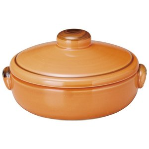 KOYO 耐熱陶器クジーネ グロスオレンジ 14.5cmキャセロール|matakatsu