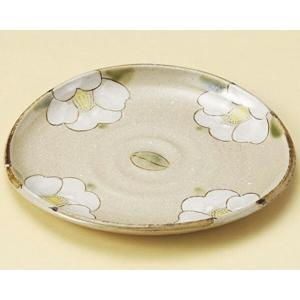 陶雅  丸皿(小)織部つばき楕円皿(小)【土物陶器】|matakatsu