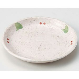 陶雅  丸皿(小)桜志野丸4.5皿|matakatsu