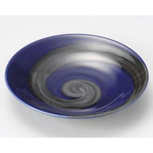 陶雅  丸皿(小)銀彩ブルー丸6.0皿|matakatsu