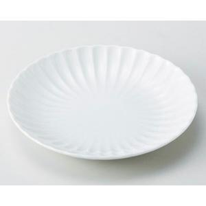 陶雅  丸皿(小)菊割 白18cm丸皿|matakatsu