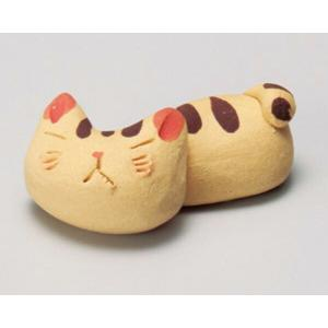 陶雅  箸置手造り猫トラ箸置(手造り食器)|matakatsu