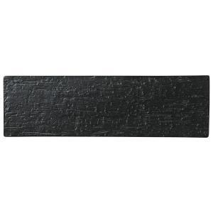 美濃の和食器 花伝漆黒 40cm細平長角皿|matakatsu