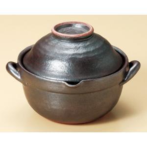 陶雅 雑炊鍋鉄結晶碗付雑炊鍋(萬古焼)|matakatsu