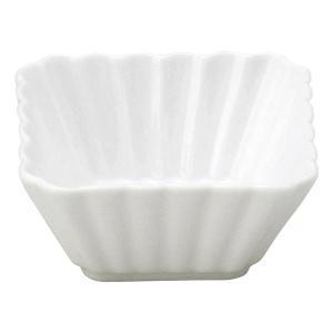 美濃の和食器 花伝かすみ 白 7cm正角深鉢|matakatsu