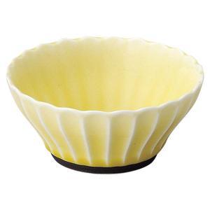 美濃の和食器 花伝かすみ 黄 10cm浅ボウル|matakatsu