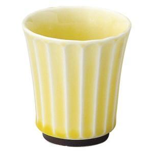 美濃の和食器 花伝かすみ 黄 カップ 小|matakatsu