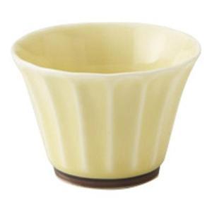 美濃の和食器 花伝かすみ 黄 ぐい呑み|matakatsu