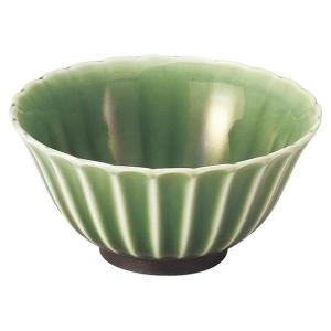 美濃の和食器 花伝かすみ 緑 10.5cmボウル|matakatsu