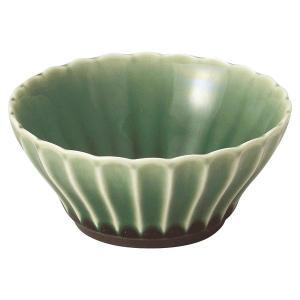 美濃の和食器 花伝かすみ 緑 10cm浅ボウル|matakatsu
