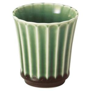 美濃の和食器 花伝かすみ 緑 カップ 小|matakatsu