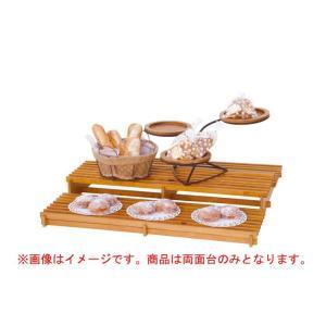 Step displayHP ひな壇ディスプレイ什器(両面タイプ/メープル仕上)型番55934|matakatsu
