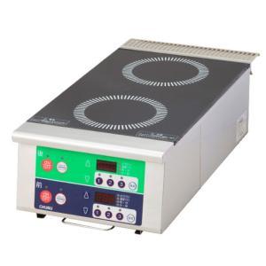 中部コーポレーションIH調理器縦型2連 6kwタイプ DL60TBA|matakatsu