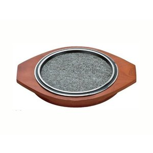 石焼プレート用木台 20cm用 [プレート別売り]|matakatsu