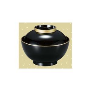 正4.5寸雑煮椀 黒天金|matakatsu