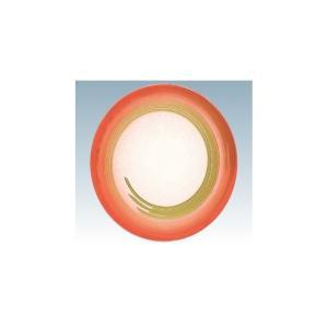 回転寿司皿 15cm耐熱ABS オレンジ ぼかし一筆|matakatsu