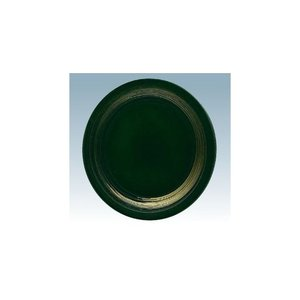 回転寿司皿 15cm耐熱ABS 緑 一筆 matakatsu