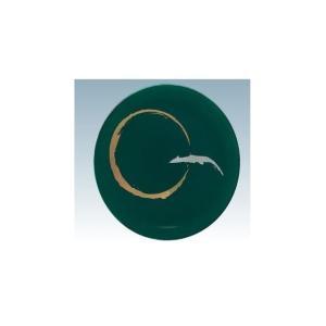 回転寿司皿 15cm耐熱ABS 深緑変り一筆|matakatsu