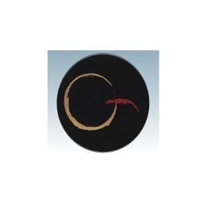 回転寿司皿 15cm耐熱ABS 黒変り一筆|matakatsu