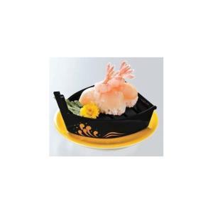 回転寿司皿 越前舟 黒金パール波(目皿付)糸尻SL|matakatsu