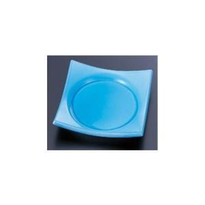 回転寿司皿 四方角皿 青磁|matakatsu