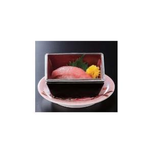 回転寿司 気比角鉢 黒内朱 アクリル蓋|matakatsu