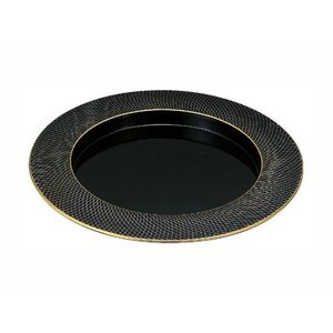 31cm 段付丸プレート 金銀武蔵野|matakatsu
