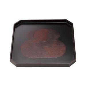 木製隅切盆 瓢春秋曙塗 7.5寸|matakatsu