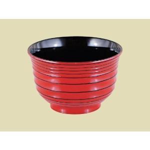 耐熱 流泉汁椀 根来研ぎ出し内黒|matakatsu