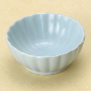 陶雅 青地菊型豆鉢|matakatsu