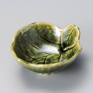 陶雅 織部木の葉呑水|matakatsu
