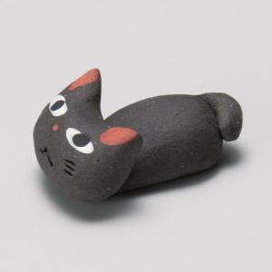 陶雅 手造り猫黒箸置|matakatsu