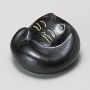 陶雅 箸置黒マット猫|matakatsu