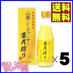山原シークワーサー 葉月搾り 果汁100% 300ml×5本 (沖縄産 青切り シークヮーサー ジュース) matayoshiyakusouen