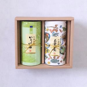 上煎茶200g缶入・かりがね180gカートン入 「A-30」 贈り物 ギフト|matcha
