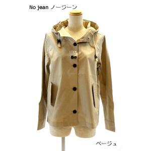 No jean ノージーン 綿100%裏なしフード付きジャケット(M・Lサイズ)レディース