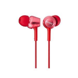 ソニー SONY イヤホン MDR-EX250 : カナル型 レッド MDR-EX250 R|materialbeats