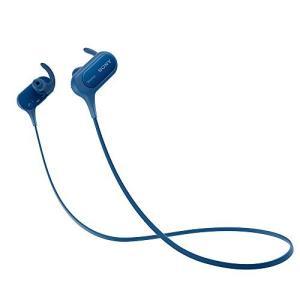 ソニー SONY ワイヤレスイヤホン MDR-XB50BS : 防滴/スポーツ向け Bluetooth対応 マイク付き ブルー MDR-XB50BS L|materialbeats