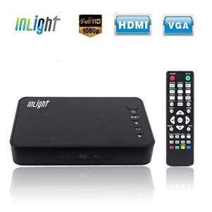 ●商品名:InLight HD023 メディアプレーヤー 選べる付属ケーブル(HDMI接続・VGA接...