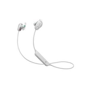 ソニー SONY ワイヤレスノイズキャンセリングイヤホン WI-SP600N WM : Bluetooth対応 NFC接続対応 防滴仕様 2018年モデル ホワイト|materialbeats