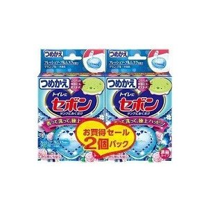 セボンタンクにおくだけ 詰替 フレッシュソープ&ムスクの香り (25g×2個入)/ アース製薬|matinozakka