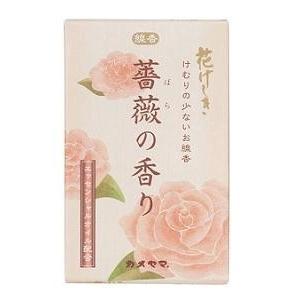 (送料無料)(まとめ買い・ケース販売)カメヤマ 花げしき 薔薇の香り ミニ寸(100個セット)/ カメヤマ|matinozakka