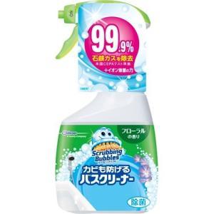(送料無料)(まとめ買い・ケース販売)スクラビングバブル カビも防げるバスクリーナー フローラルの香り 本体(400mL)(18個セット)/ ジョンソン|matinozakka