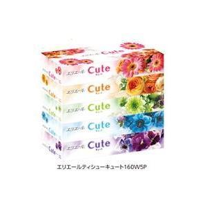 エリエール ティシュー キュート(160組×5コ入) 5個パック×12個入 60ボックス/ 大王製紙